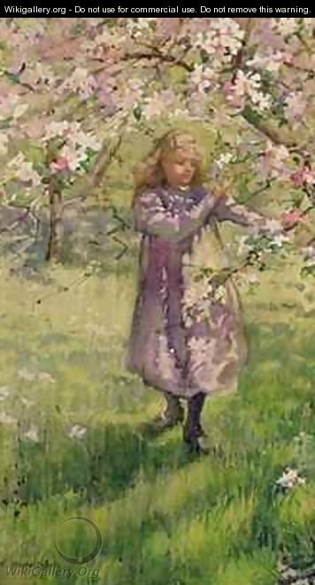 Picking Apple Blossom - Ethel Horsfall Ertz