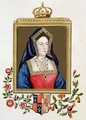 Portrait of Catherine of Aragon 1st Queen of Henry VIII from Memoirs of the Court of Queen Elizabeth - Sarah Countess of Essex