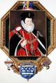Portrait of William Cecil 1st Baron Burghley from Memoirs of the Court of Queen Elizabeth - Sarah Countess of Essex