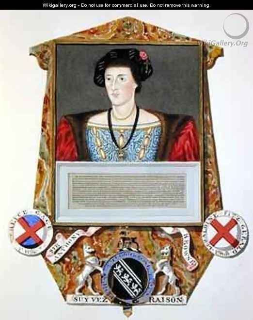 Portrait of Sir Anthony Browne from Memoirs of the Court of Queen Elizabeth - Sarah Countess of Essex