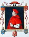 Portrait of Thomas Wolsey Cardinal and Statesman from Memoirs of the Court of Queen Elizabeth - Sarah Countess of Essex