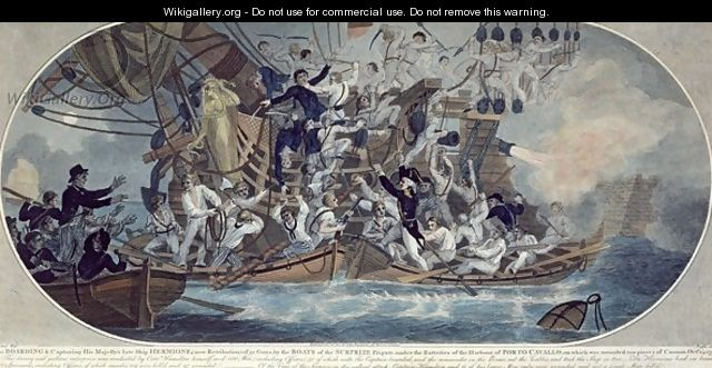 The boarding and capturing of His Majestys late ship - (after) Elms