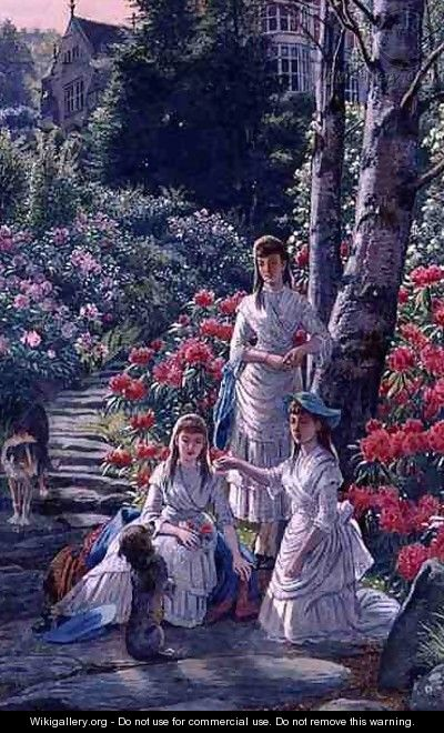 The Princesses Louise Victoria and Maude Visiting Cragside in 1884 - Henry Hetherington Emmerson