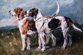 Pair of Foxhounds - John Emms