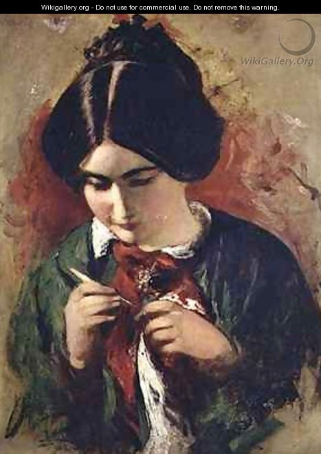 Study for the Crochet Worker Miss Mary Ann Purdon - William Etty