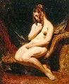 Female nude from the side - William Etty