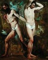 Two Standing Male Nudes - William Etty