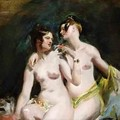 Two Female Nudes - William Etty