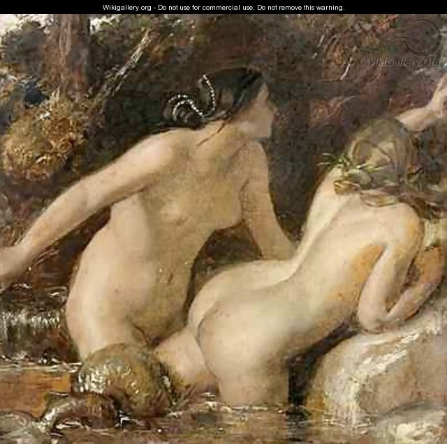 Nymphs with a Sea Monster - William Etty