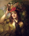Miss Lewis as a Flower Girl - William Etty