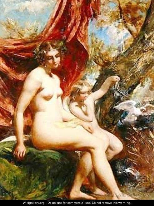 Venus and Cupid with a Dove - William Etty