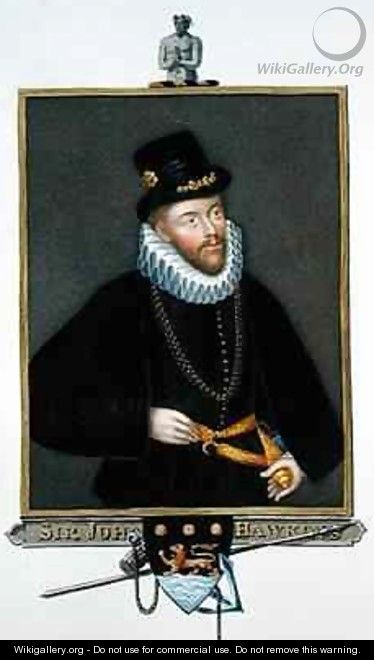 Portrait of Sir John Hawkins from Memoirs of the Court of Queen Elizabeth - Sarah Countess of Essex