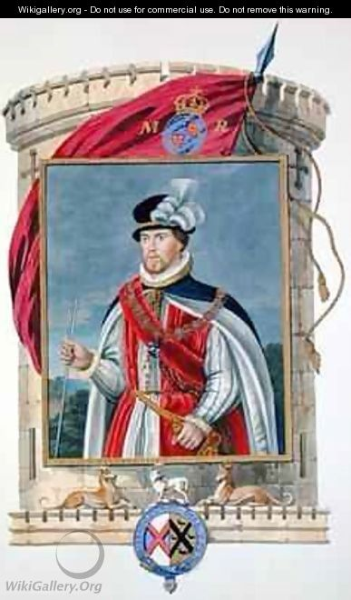 Portrait of John Dudley Duke of Northumberland from Memoirs of the Court of Queen Elizabeth - Sarah Countess of Essex