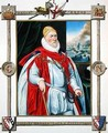 Portrait of Charles Howard 1536-1624 2nd Baron of Effingham and 1st Earl of Nottingham from Memoirs of the Court of Queen Elizabeth - Sarah Countess of Essex