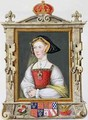 Portrait of Jane Seymour 3rd Queen of Henry VIII from Memoirs of the Court of Queen Elizabeth - Sarah Countess of Essex