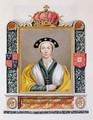 Portrait of Anne of Cleves 4th Queen of Henry VIII from Memoirs of the Court of Queen Elizabeth - Sarah Countess of Essex
