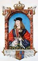 Portrait of James IV of Scotland from Memoirs of the Court of Queen Elizabeth - Sarah Countess of Essex