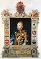 Portrait of Philip II King of Spain 1527-98 from Memoirs of the Court of Queen Elizabeth - Sarah Countess of Essex