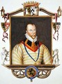 Portrait of Ambrose Dudley 1st Earl of Warwick from Memoirs of the Court of Queen Elizabeth - Sarah Countess of Essex