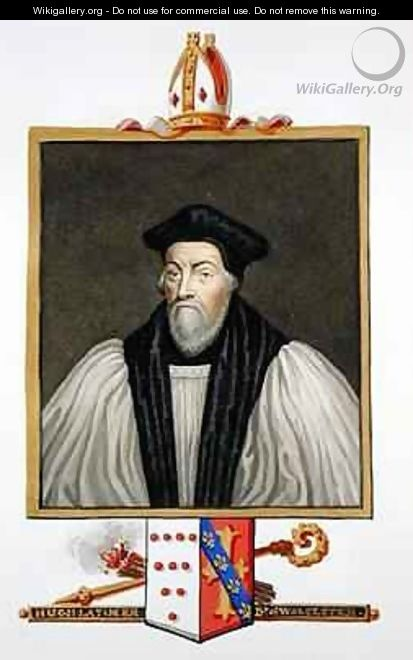 Portrait of Hugh Latimer Bishop of Worcester from Memoirs of the Court of Queen Elizabeth - Sarah Countess of Essex