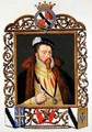 Portrait of Thomas Radcliffe 3rd Earl of Sussex from Memoirs of the Court of Queen Elizabeth - Sarah Countess of Essex