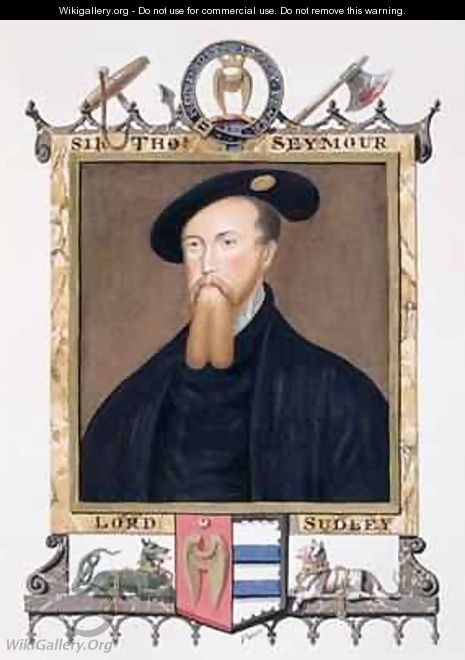 Portrait of Thomas Seymour 1st Baron of Sudeley from Memoirs of the court of Queen Elizabeth - Sarah Countess of Essex