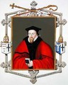 Portrait of John Whitgift Archbishop of Canterbury from Memoirs of the Court of Queen Elizabeth - Sarah Countess of Essex