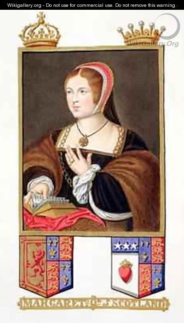 Portrait of Margaret Tudor Queen of Scotland from Memoirs of the Court of Queen Elizabeth - Sarah Countess of Essex