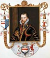 Portrait of Walter Devereux 1st Earl of Essex from Memoirs of the court of Queen Elizabeth - Sarah Countess of Essex