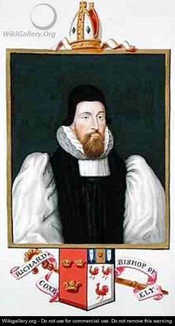 Portrait of Richard Cox Bishop of Ely from Memoirs of the Court of Queen Elizabeth - Sarah Countess of Essex