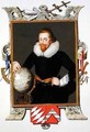Portrait of Sir Walter Raleigh from Memoirs of the Court of Queen Elizabeth - Sarah Countess of Essex