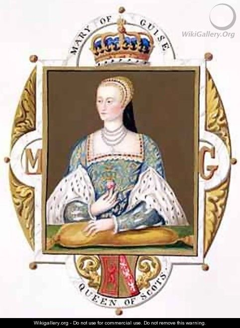 Portrait of Mary of Guise Queen of Scotland from Memoirs of the Court of Queen Elizabeth - Sarah Countess of Essex