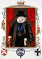 Portrait of Sir Thomas Cecil 1st Earl of Exeter 2nd Lord Burghley from Memoirs of the Court of Queen Elizabeth - Sarah Countess of Essex