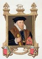 Portrait of Sir Nicholas Bacon from Memoirs of the Court of Queen Elizabeth - Sarah Countess of Essex