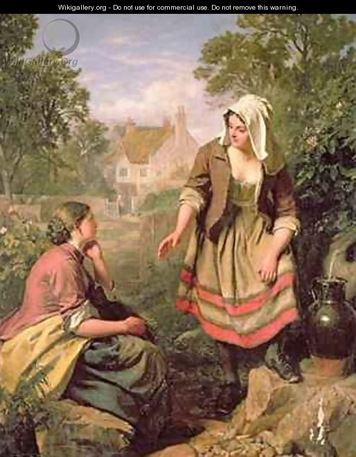 At The Spring or Gossip - John Faed