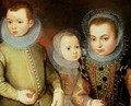 Portrait of Three Tudor Children - F. F.