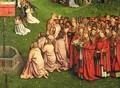 The Ghent Altarpiece detail from the Adoration of the Mystic Lamb - Hubert & Jan van Eyck