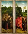 The Hermits and the Pilgrims Guided by St Christopher interior of right hand wing of The Ghent Altarpiece - Hubert & Jan van Eyck