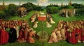 The Adoration of the Mystic Lamb from the Ghent Altarpiece lower half of central panel - Hubert & Jan van Eyck