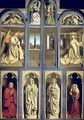 Exterior of Left and Right panels of The Ghent Altarpiece - Hubert & Jan van Eyck