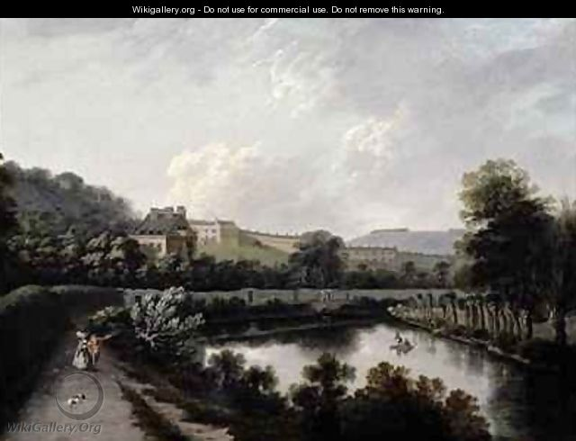 The Royal Crescent Bath from the Avon - Joseph Farington