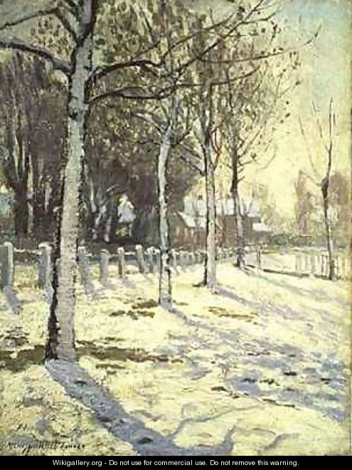 Poplars in the Snow - Alice Taite Fanner