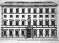 View of the facade of Palazzo Marchese - Giovanni Battista Falda
