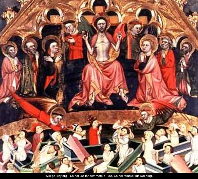 The Last Judgement from The Altarpiece at the old church of Sant Salvador dAlbatarrec at Lleida - Jaime Ferrer II