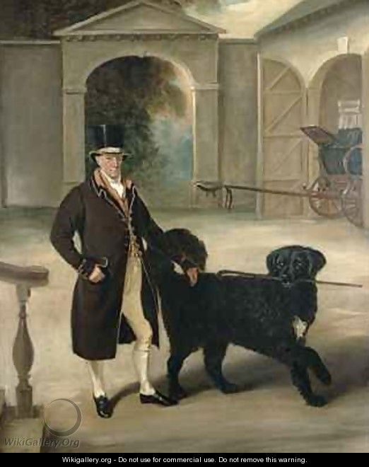 Coachman with Newfoundland dog - John Ferneley, Snr.