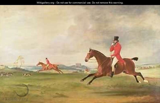 John 5th Duke of Rutland General Lord Charles Manners and General Lord Robert Manners Hunting - John Ferneley, Snr.