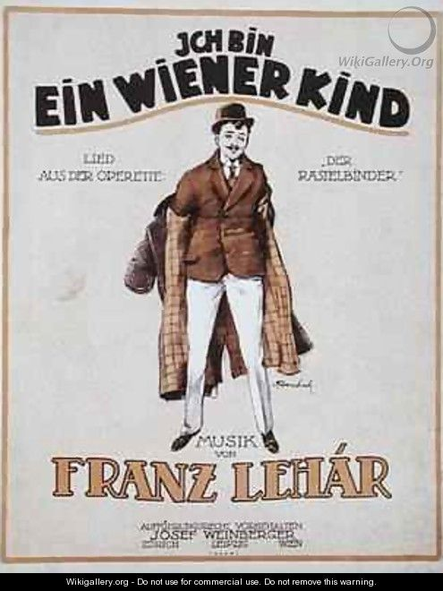 Cover of the score sheet for Ich Bin Ein Wiener Kind - V. Ferenchich