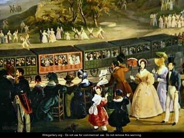 The Opening of the Naples Portici Railway in 1839 - Salvatore Fergola