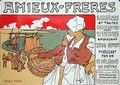 Reproduction of a poster advertising Amieux Freres producers of sardines and all preserves - Georges Fay