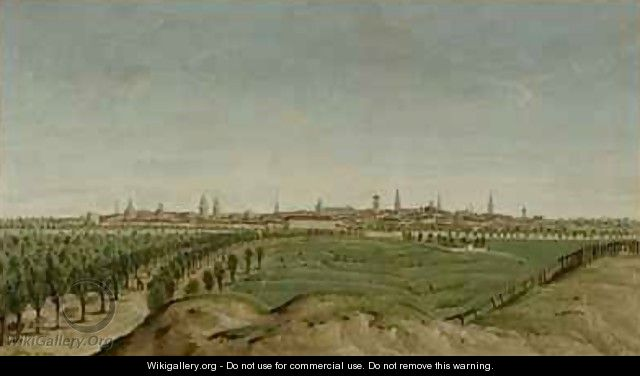 View of Berlin from Tempelhof - Carl Traugott Fechhelm